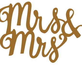 Custom Mrs & Mrs Decal listing for Dawn Ernano