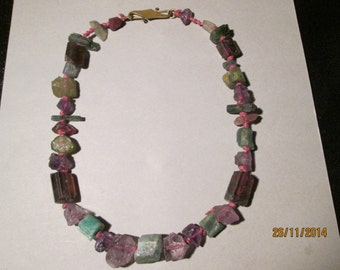New Lower price xxxxxTOURMALINE CHUNK NECKLACE