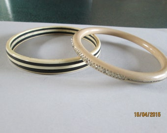 Bangles for UPPER ARM or bigger hands from 1920s (two)