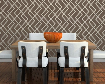 HERRINGBONE Wallpaper Stencil / Reusable Stencils / DIY / Home Decor / Interiors / Feature Wall / Wallpaper alternative / Motif