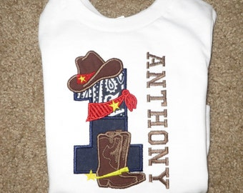 Cowboy 1st Birthday Personalized Shirt