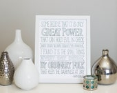 Lord of the Rings Gandalf Quote Print