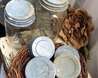 Antique Vintage Mason Zinc Jar Lid Ball