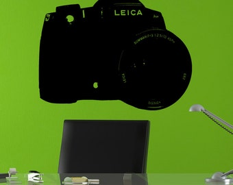 Leica Camera Sticker Decal Wall Art Photography Lens Photo Pictures Fashionable Photo Booth  tr370