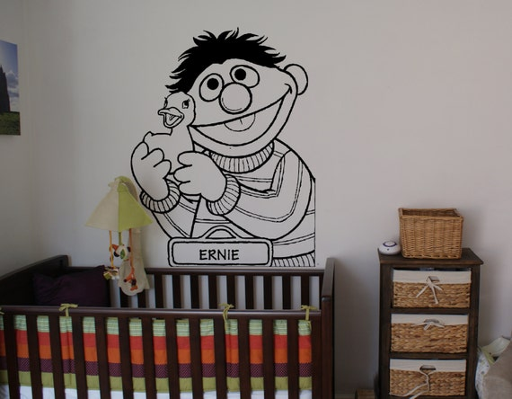 ernie sesame street sticker decal wall art by beacreativedesigner. Black Bedroom Furniture Sets. Home Design Ideas