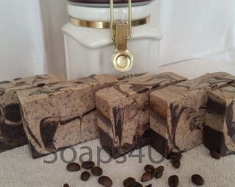 Gourmet Ground Coffee Beans Handmade Soap. Coffee Cold Process Soap. Great idea for gift!
