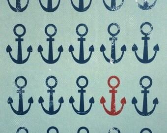 Ancres // Anchors // Illustration // Art Print // Nautical // Sailor // 8 x 10 po