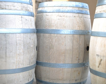 Raw, Reclaimed Oak Wine Barrel's