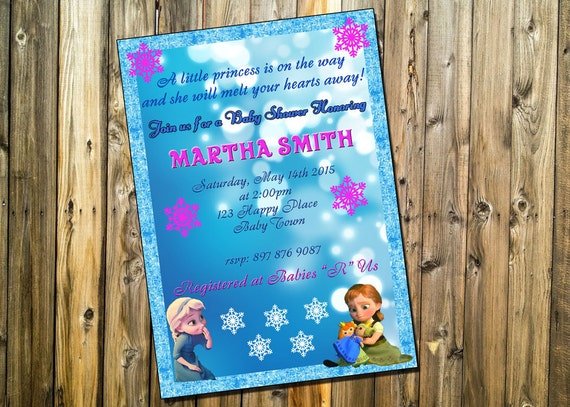 frozen baby shower invitation frozen baby shower custom and
