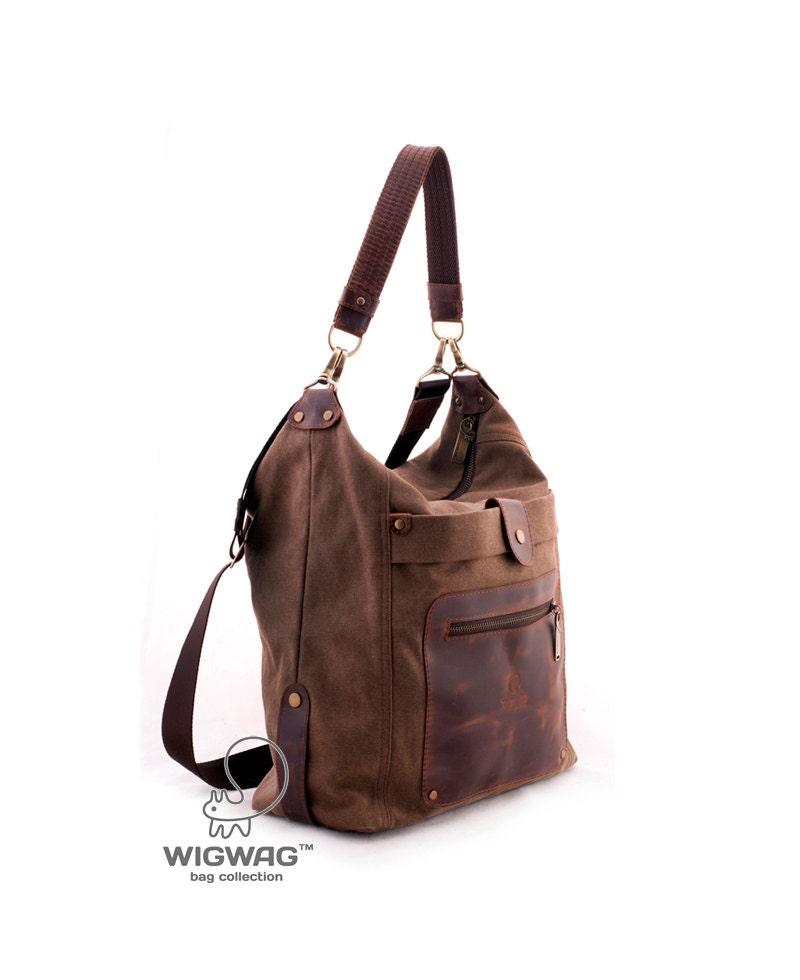 canvas leather bag women 39 s bag diaper bag crossbody. Black Bedroom Furniture Sets. Home Design Ideas