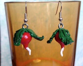 luna lovegood harry potter dangly radish earrings