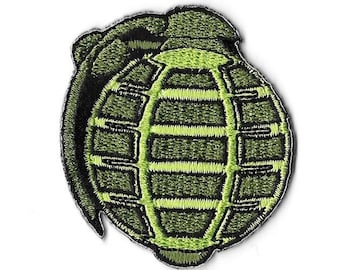 Hand Grenade Embroidered Patch Iron On Applique