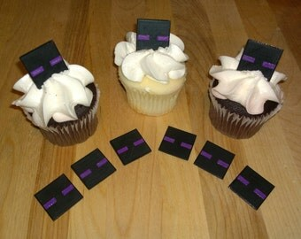 Miner Inspired MC Face CupCake Toppers