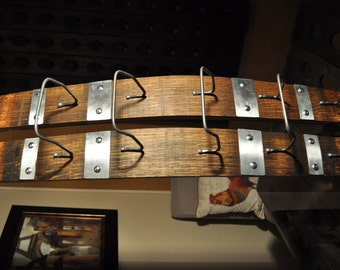 Napa Valley Wine Barrel Stave Wine Rack.