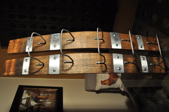 Napa Valley Wine Barrel Stave Wall Hanging Wine Rack.
