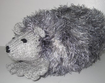 Cute cuddly Knitted Hedgehog.natural looking.