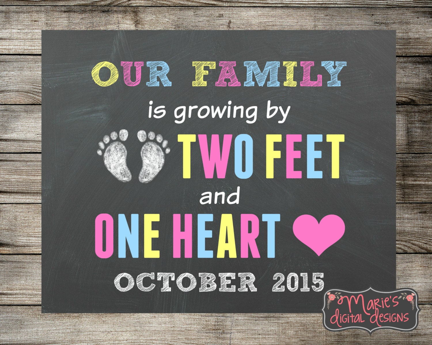 Printable Pregnancy Announcement Our Family is Growing by – Baby Announcements Quotes