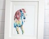Watercolour Horse Fine Art PRINT