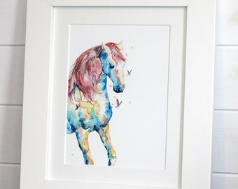 Watercolour Horse Fine Art PRINT