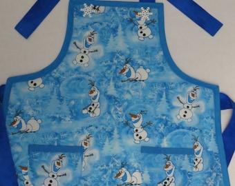 Childrens Apron Disney's Frozen Boys Olaf Kids in the Kitchen Girl's Olaf Snowman Apron