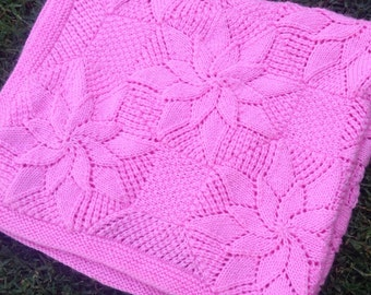 Knit Baby Blanket Pattern Quick : Quick knit blanket Etsy