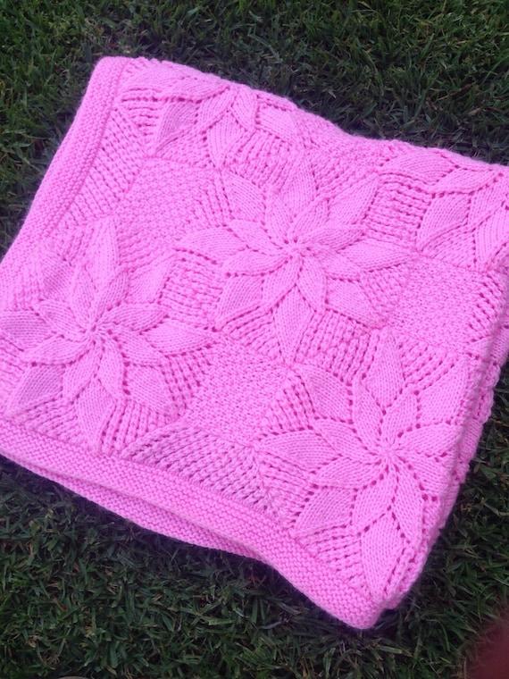Vintage Baby Blanket Knitting Patterns : Vintage Style Baby Blanket Knitting Pattern by BiggerthanlifeKnits