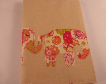 Applique Elephant A6 Notebook Cover