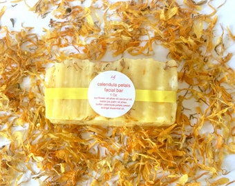 Healing facial bar, calendula shea butter facial bar