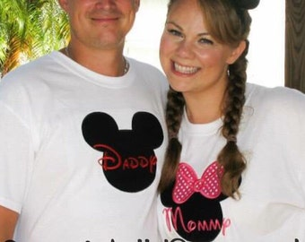 Minnie Mouse Shirt - Adult - Mommy - Daddy - Birthday