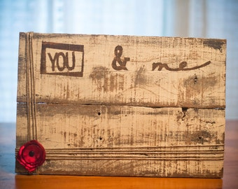 Handmade, rustic, wooden picture frame.