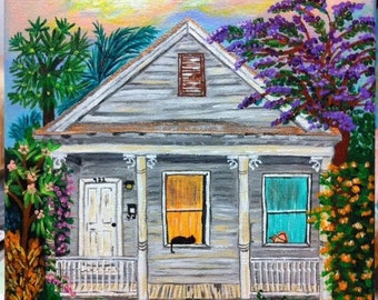 Key West Shotgun House Two , Giclee