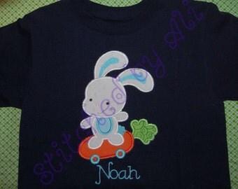 Easter Skater Bunny Boys Shirt