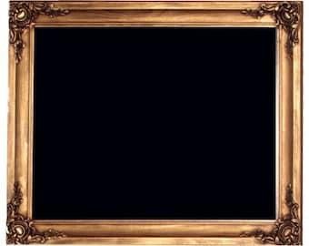 Ornate Gold Framed Chalk Board, Blackboard, 650 x 920mm, Stylish Antique Design
