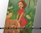 60x42cm The Secret World of Arrietty Vintage Style Poster - Hayao Miyazaki 2010 Film Poster - Studio Ghibli Anime Print - Sho, The Borrower