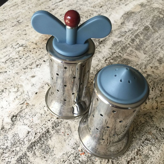 Alessi michael graves salt shaker and pepper mill in 18 10 for Alessi salt and pepper shakers
