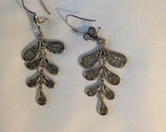Hand Made Sterling Silver Earrings made in Turkey B 925