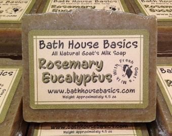 Rosemary Eucalyptus Goat's Milk Soap
