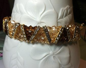 Swarovski Topaz Crystal Bracelet