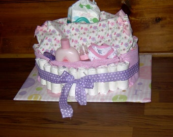 Custom Designed Diaper Cakes-Diaper Bag Diaper Cake