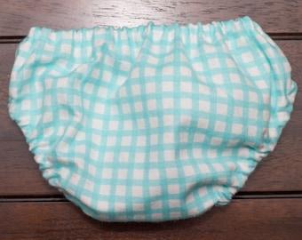 Teal Gingham Diaper Cover