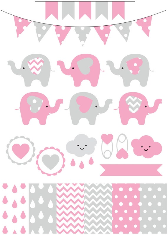 premium baby shower vector clipart baby by looklookprettypaper