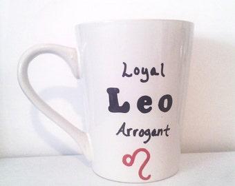Leo Coffee Mug - Zodiac Mug - Leo Coffee Cup - Horoscope Mug - Leo