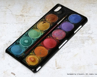 Sony Xperia Z3 Case Watercolor Palette