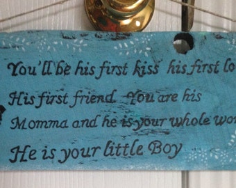 Little Boy Quote Plaque - Boys Room Sign - Nursery Sign - Nursery Room Decor