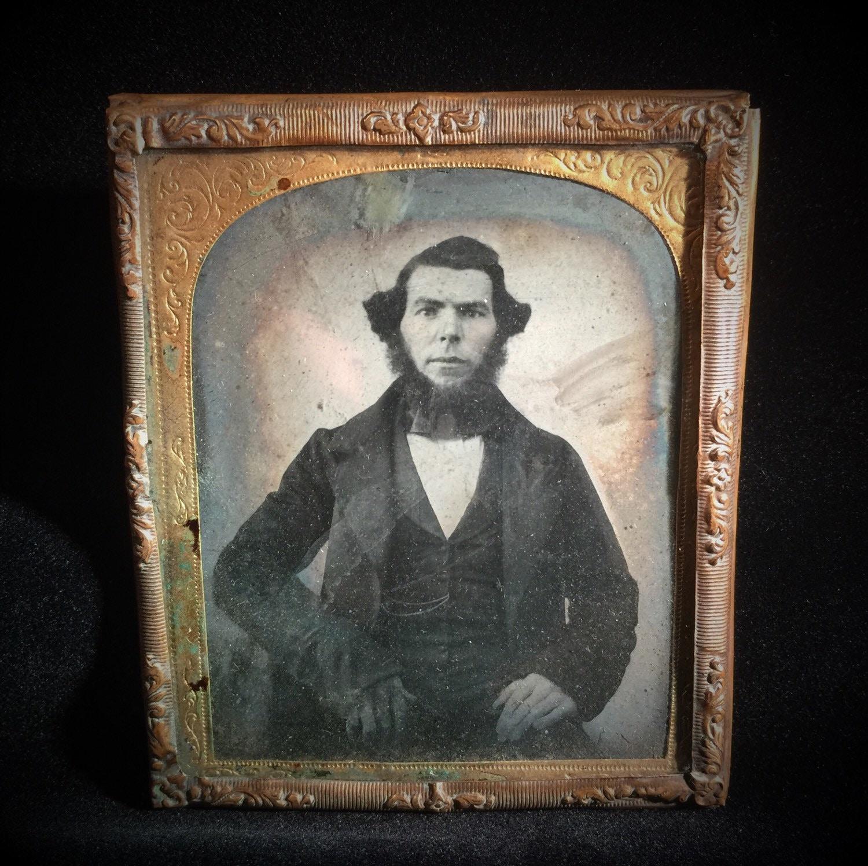 Antique Tin Type Photo Daguerreotype Photo Ambrotype Photo