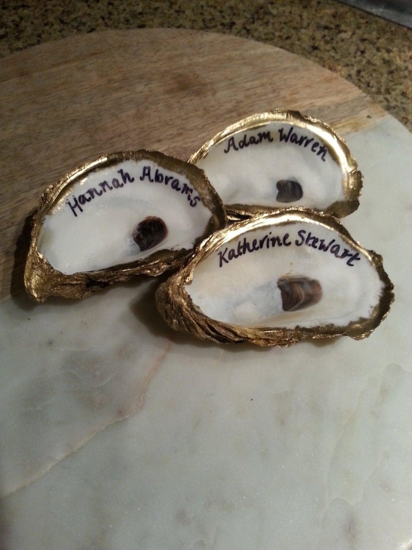 Bulk Oyster Shells Gold Gilded Oyster Shell Name