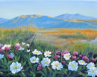 Desert Flowers - Rain Reward - Original Acrylic Painting