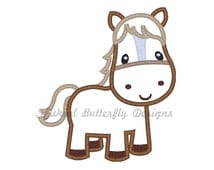 """Horse applique machine embroidery design- 3 sizes 4 x 4"""", 5 x 7"""" and 6 x 10"""""""