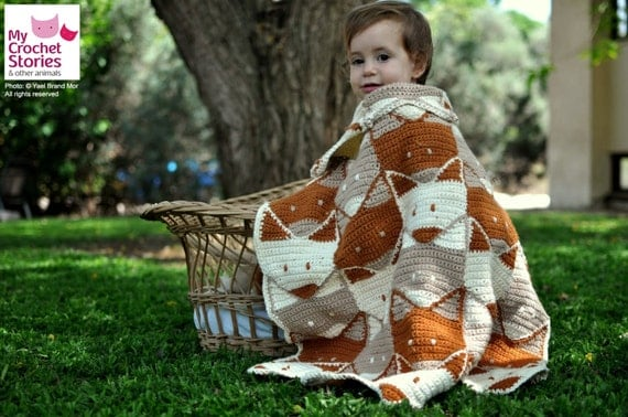 Crochet Fox Baby Blanket Pattern