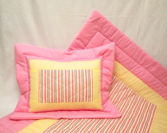 Crib Quilt and Pillow for Baby Girl
